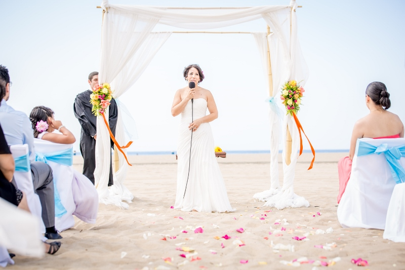 Bride On The Beach In Santa Monica Jpg