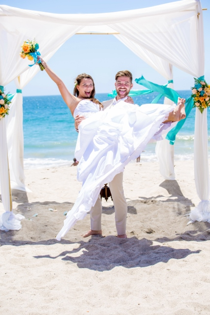 Just married at Sycamore Cove Beach.jpg