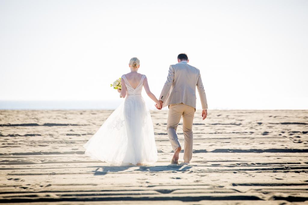 Santa Monica Beach Wedding Just Married On