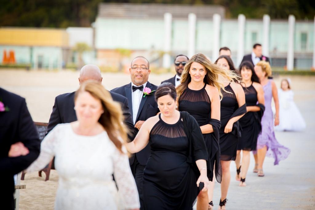 Beach Wedding In Santa Monica On The