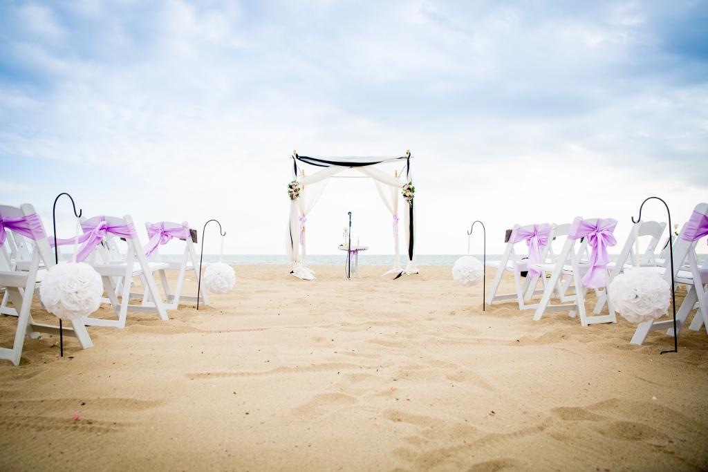Santa Monica Beach Wedding Setup Jpg