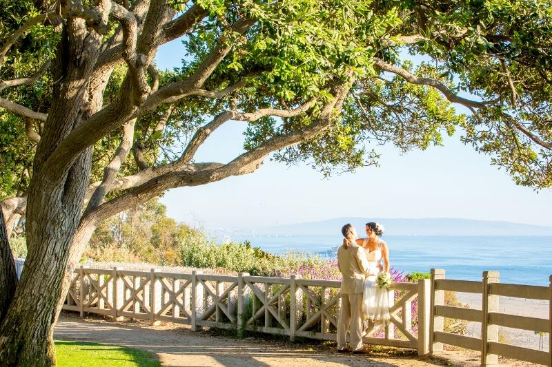 Wedding On The Bluff In Santa Monica Los Angeles Beach